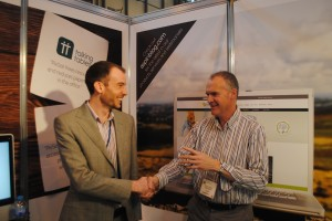 Aspin project manager Richard with Mark from Talking Tables