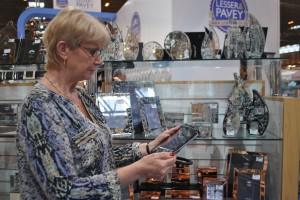 Karen from Lesser and Pavey with PixSell and their popular mirror frames range.