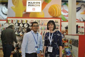 Doug with recent PixSell competition winner, Vicky from Khun Rikon.