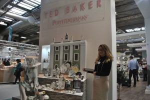 PixSell being used at the Portmerion stand to take orders of the beautiful new Ted Baker range.
