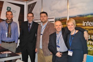 Aspin employees at the stand at the end of the day L-R Richard, Nigel, Chris, Julian and Lizzi.