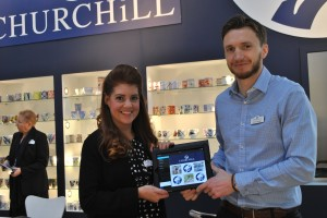 PixSell was working well for Wayne and Saffi from Churchill on their stand.